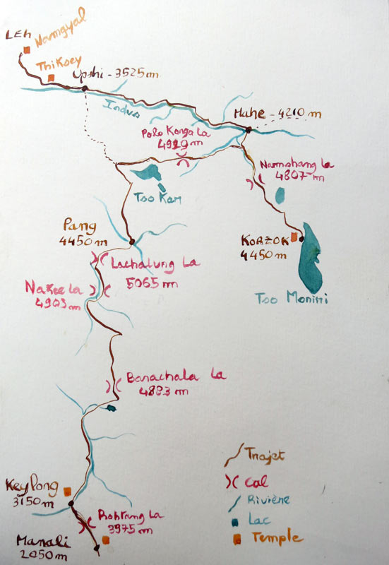 plan Roadbook Ladakh