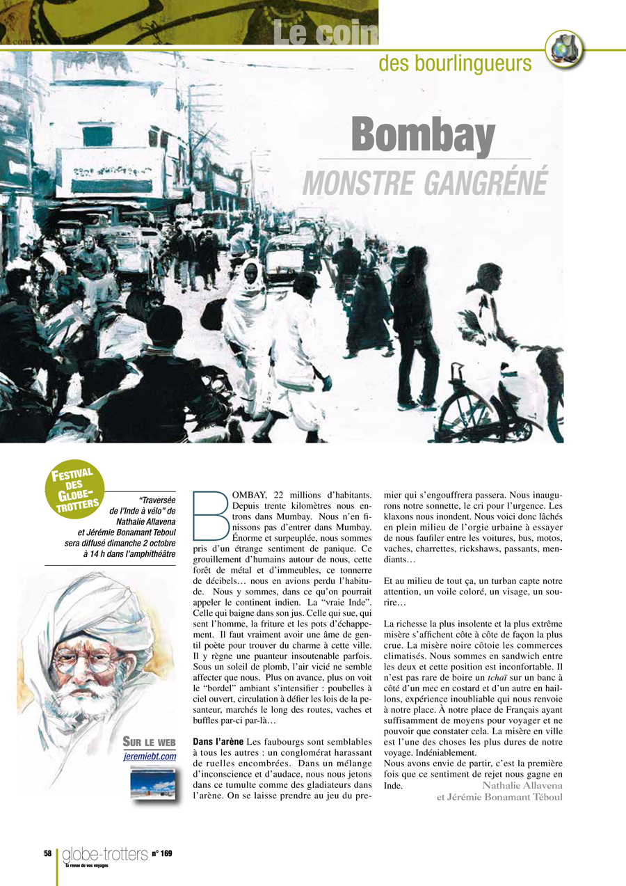 Globe trotteur 58_Bombay